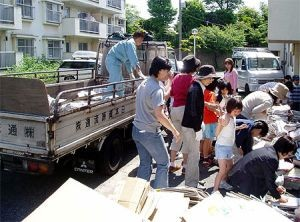 集団資源回収の写真